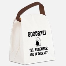 Remember You In Therapy Canvas Lunch Bag