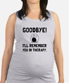 Remember You In Therapy Maternity Tank Top