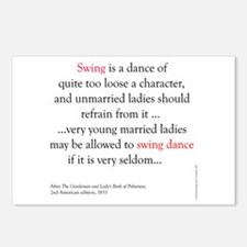 Swing is a dance Postcards (Package of 8)