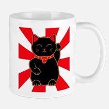 Black Lucky Cat Mug