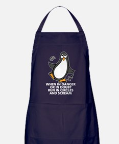 When in Danger or in Doubt Funny Peng Apron (dark)