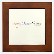 Swing Dance Nation Framed Tile