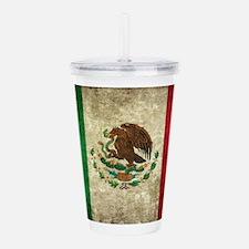 Mexican Flag Acrylic Double-wall Tumbler