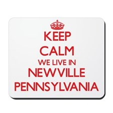 Keep calm we live in Newville Pennsylvan Mousepad