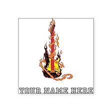 Custom Flaming Guitar Sticker