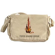 Custom Flaming Guitar Messenger Bag
