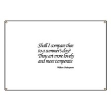 Shall I compare thee to a summer's day? Banner