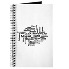 Classical Composers Word Cloud Journal