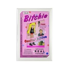 Coulter Bitchie Doll Rectangle Magnet