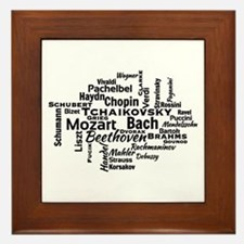 Classical Composers Word Cloud Framed Tile