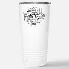 Classical Composers Word Cloud Travel Mug