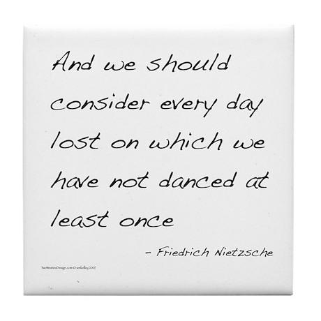 Nietzsche on Dance Tile Coaster