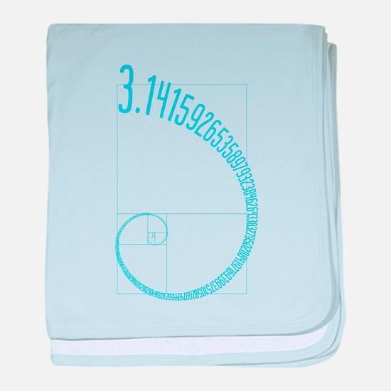 Fibonacci Pi baby blanket
