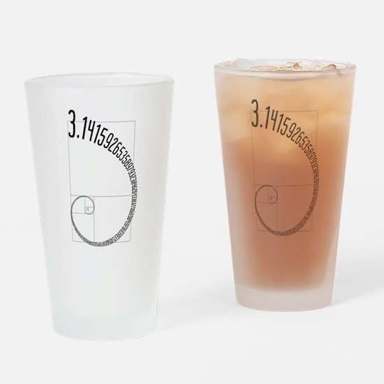 Fibonacci Pi Drinking Glass