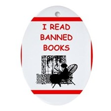 banned books Ornament (Oval)