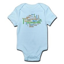 Classical Composers Word Cloud Body Suit