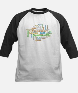 Classical Composers Word Cloud Baseball Jersey