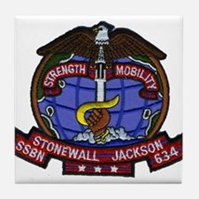 USS STONEWALL JACKSON Tile Coaster