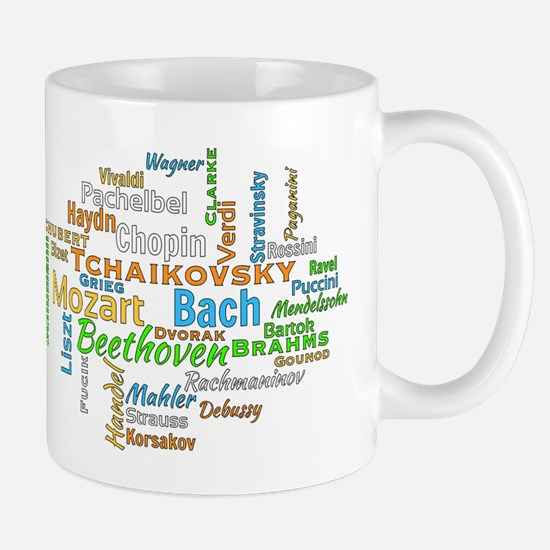 Classical Composers Word Cloud Mugs