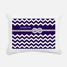 Violet Chevron Rope Pers Rectangular Canvas Pillow