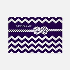 Violet Chevron Rope Personalized Rectangle Magnet