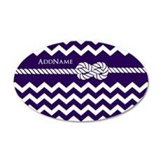 Violet Chevron Rope Personal Wall Decal