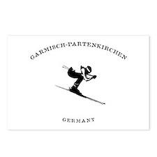 Garmisch-Partenkirchen Germany Ski Postcards (Pack