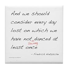 Nietzsche on Swing Dance Tile Coaster