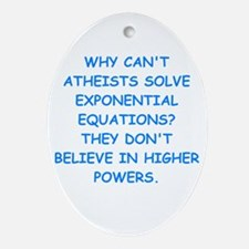 atheist math Ornament (Oval)