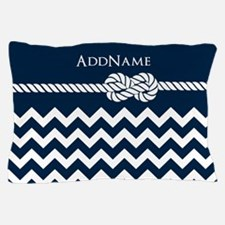 Chevron Rope Knot Personalized Pillow Case