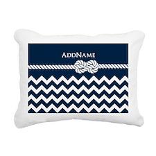 Chevron Rope Knot Person Rectangular Canvas Pillow