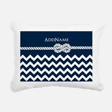 Chevron Rope Knot Person Rectangular Canvas Pillow