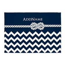 Chevron Rope Knot Personalized 5'x7'Area Rug