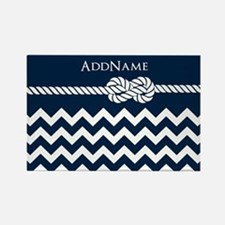 Chevron Rope Knot Personalized Rectangle Magnet