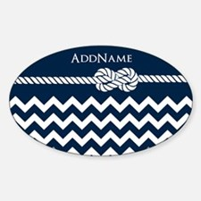 Chevron Rope Knot Personalize Decal