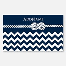 Chevron Rope Knot Person Decal