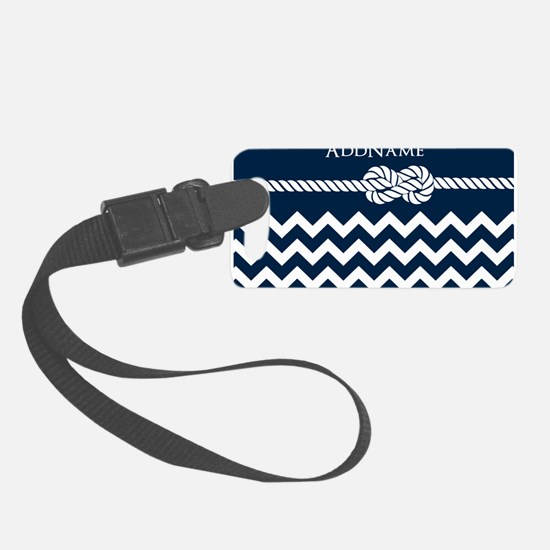 Chevron Rope Knot Personalized Luggage Tag