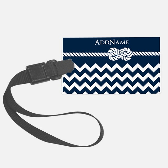 Chevron Rope Knot Personalized Large Luggage Tag