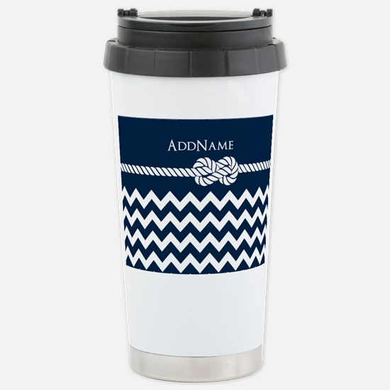 Chevron Rope Knot Perso Stainless Steel Travel Mug
