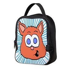 orange cat Neoprene Lunch Bag