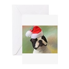 Boston terrier christmas Greeting Cards (Pk of 20)