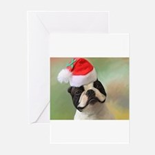 Cool Boston terrier christmas Greeting Cards (Pk of 20)