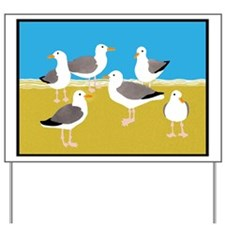 Gang of Seagulls Yard Sign