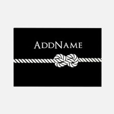 Black Rope Knot Person Rectangle Magnet (100 pack)
