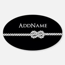 Black Rope Knot Personalized Decal