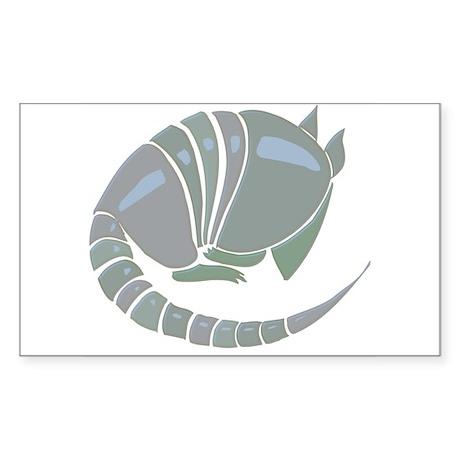 Armadillo Sticker (Rect.)
