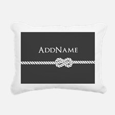 Gray Rope Knot Personali Rectangular Canvas Pillow