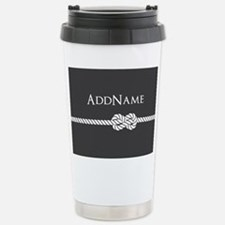 Gray Rope Knot Personal Stainless Steel Travel Mug