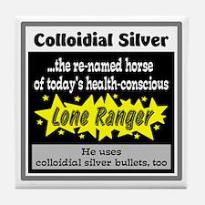 Colloidial Silver Tile Coaster