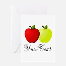 Personalizable Apples Greeting Cards